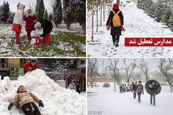 برف و باران و تندباد در برخی استانها/ مدارس کدام شهرها تعطیل شد؟