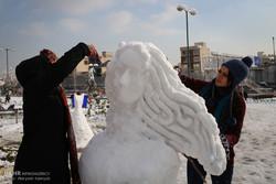 Snowman festival in Tehran