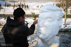 مهرجان المجسمات الثلجية في طهران /صور