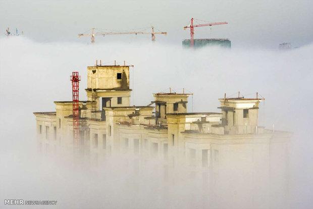Sise boğulan kentlerden muhteşem görüntüler