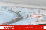 امدادرسانی هوایی به در راه ماندگان محور حسن آباد