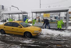تداوم عملیات  برف روبی در مناطق شمالی تهران