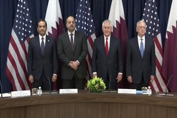 وزرای خارجه و دفاع آمریکا و قطر