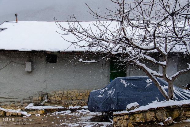 İran'ın Gorgan kentinde kar yağışı