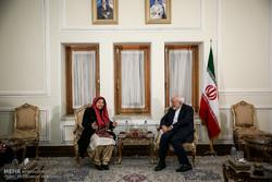 وزير الخارجية الإيراني يستقبل مساعدة الأمين العام للأمم المتحدة