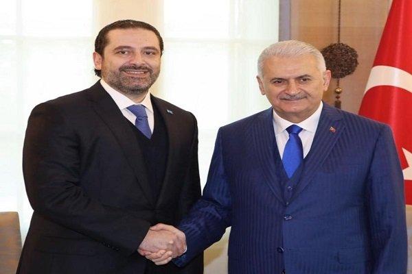 """سعد الحريري يلتقي بنظيره التركي """"بن علي يلدريم"""""""