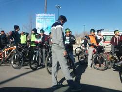 اعزام کاروان دوچرخه سواران نیشابور به مشهد