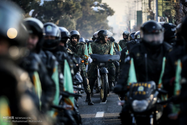 Armed Forces motorcyclists mark Islamic Revolution anniversary