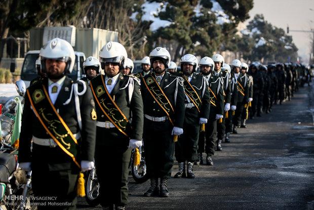 İran'da motosikletli geçit töreni