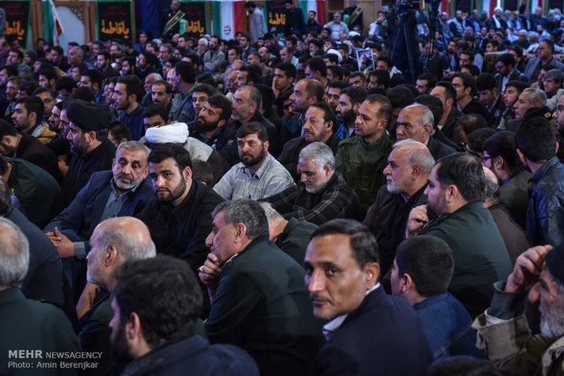 اربعينية آية الله حائري شيرازي بحضور اللواء قاسم سليماني