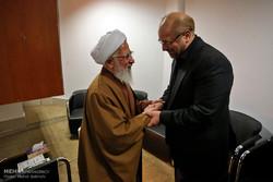دیدار محمد باقر قالیباف شهردار سابق تهران با مراجع