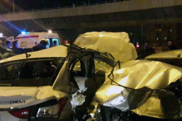 تصادف زنجیره ای در محور شیراز به خرامه ۷ کشته و زخمی برجای گذاشت