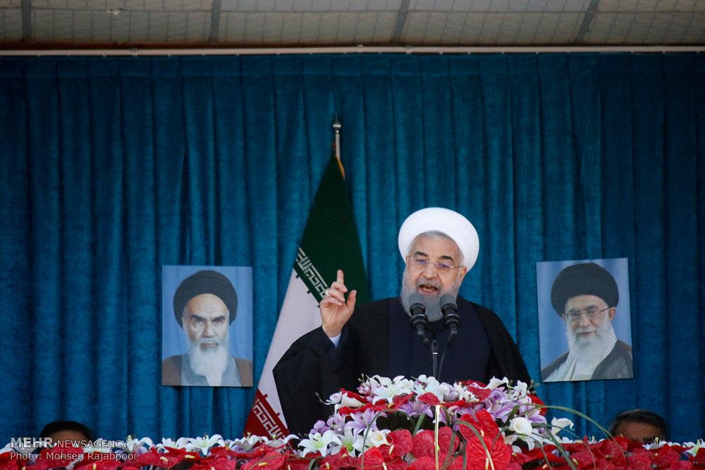 ملت بزرگ ایران در برابر هر توطئه با قدرت خواهد ایستاد