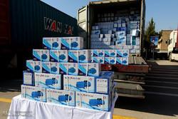 رونمایی از کالاهای قاچاق کشف شده در طرحهای ذوالفقار ۷ و ۸ نیروی انتظامی استان اصفهان