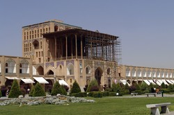 An exterior view of Ali Qapu Palace in Isfahan