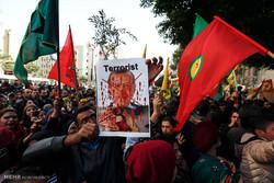 مظاهرات في ريف منبج دعما لعفرين