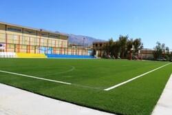 سالن ورزشی اسلام آبادوچمن مصنوعی روستای خان احمدگچساران افتتاح شد