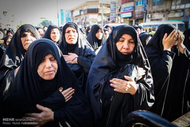 تشییع پیکر شهید جاسم حمید مدافع حرم حضرت زینب(س)