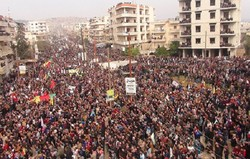 Afrin'de Zeytin Dalı Harekatı'na karşı protesto