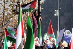 """İsviçre'de """"Filistin'e destek"""" gösterisi"""