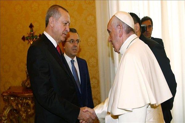 Erdogan, Pope back protection of Al-Quds' status