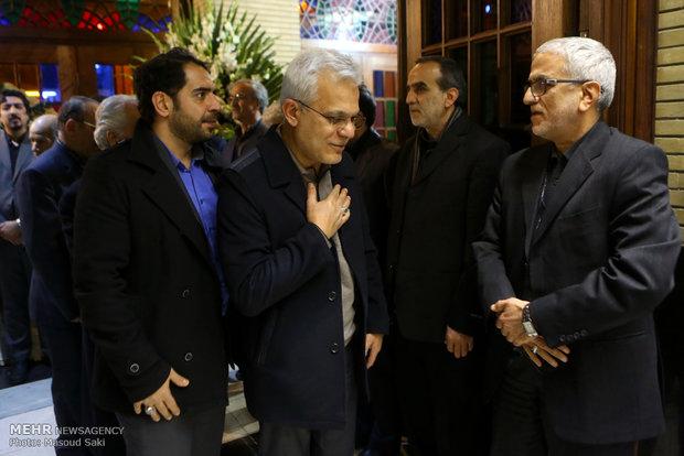 مرتضی طلایی در مراسم ترحیم زنده یاد رضا مقدسی فعال رسانه ای