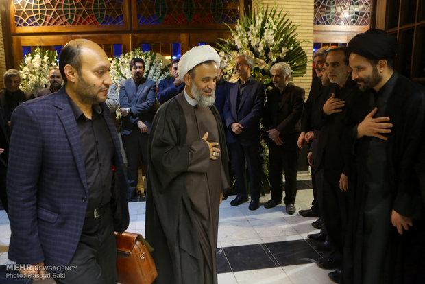 علیرضا پناهیان در مراسم ترحیم زنده یاد رضا مقدسی فعال رسانه ای