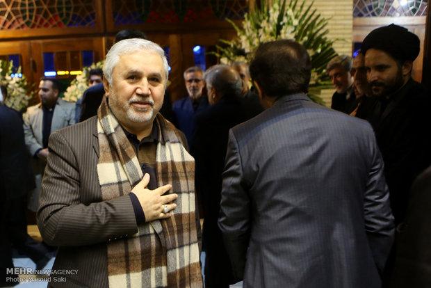 علی دارابی در مراسم ترحیم زنده یاد رضا مقدسی فعال رسانه ای