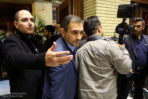 پرویز اسماعیلی در مراسم ترحیم زنده یاد رضا مقدسی فعال رسانه ای