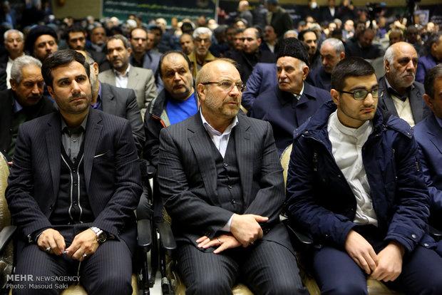 محمدباقر قالیباف در مراسم ترحیم زنده یاد رضا مقدسی فعال رسانه ای