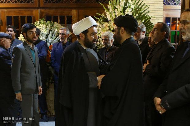 شهاب مرادی در مراسم ترحیم زنده یاد رضا مقدسی فعال رسانه ای