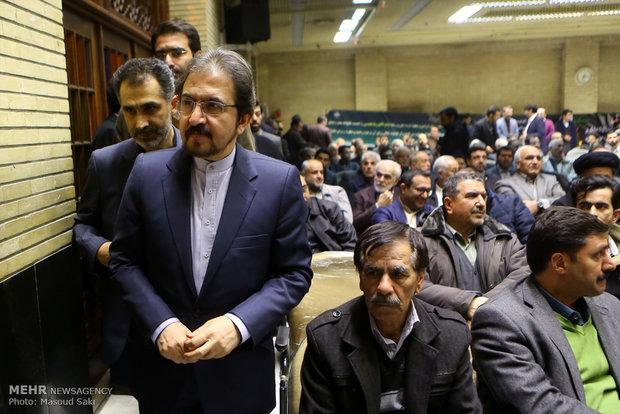 بهرام قاسمی سخنگوی وزارت امور خارجه در مراسم ترحیم زنده یاد رضا مقدسی فعال رسانه ای