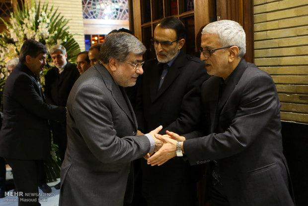 علی جنتی در مراسم ترحیم زنده یاد رضا مقدسی فعال رسانه ای