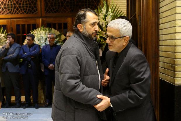 فریدالدین حداد عادل در مراسم ترحیم زنده یاد رضا مقدسی فعال رسانه ای