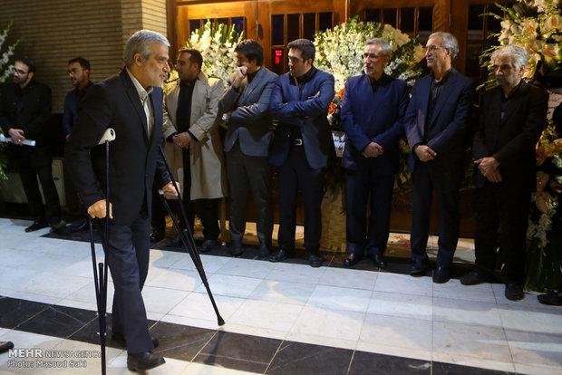 مجید قلی زاده در مراسم ترحیم زنده یاد رضا مقدسی فعال رسانه ای