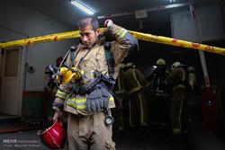 آتش سوزی ساختمان برق حرارتی وزارت نیرو -۱
