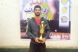 مهران رجبلی قهرمان جایزه بزرگ تنیس گلستان شد