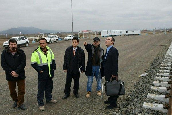 Japan's politico-economic delegation visits Astara-Astara rail route