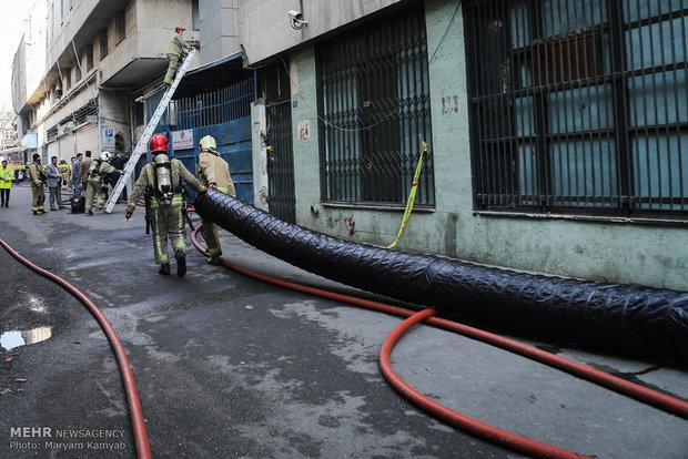 آتش سوزی ساختمان برق حرارتی وزارت نیرو