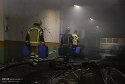 عملیات اطفا حریق شبانه ساختمان وزارت نیرو