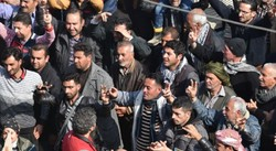 Afrin's citizens take to streets denouncing Turkish assault