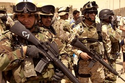 Iraqi army moves to secure planned oil route to Iran