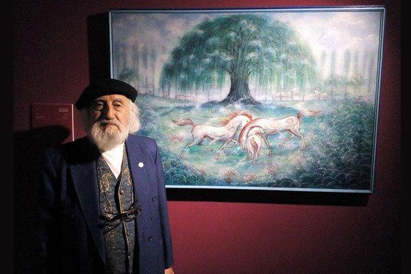 رونمایی از جدیدترین نقاشی حسین محجوبی در جشنواره «هنر برای صلح»