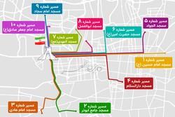 اینفومهر مسیرهای ۱۰گانه راهپیمایی ۲۲ بهمن اعلام شد
