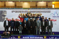 اختتامیه مسابقات کشتی جام جهان پهلوان تختی در تبریز