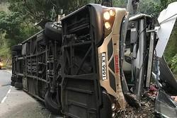 واژگونی اتوبوس در هنگ کنگ