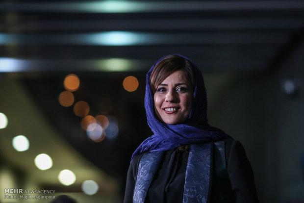 سارا بهرامی بازیگر فیلم دارکوب هشتمین روز از جشنواره فیلم فجر