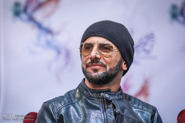 امین حیایی بازیگر فیلم دارکوب در هشتمین روز از جشنواره فیلم فجر