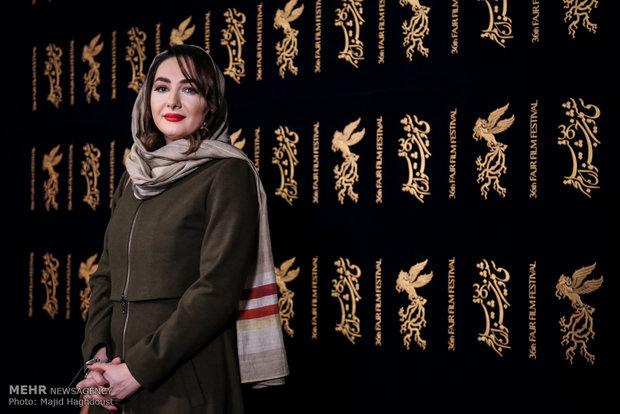 هانیه توسلی بازیگر فیلم سوءتفاهم در هشتمین روز از سی و ششمین جشنواره فیلم فجر