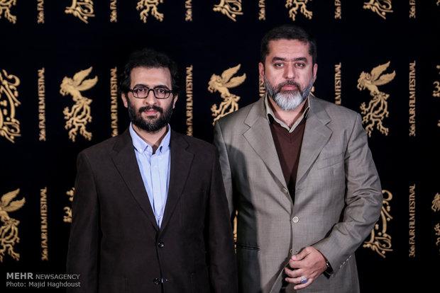 سید محمود رضوی تهیه کننده و بهروز شعیبی کارگردان فیلم دارکوب در هشتمین روز از سی و ششمین جشنواره فیلم فجر